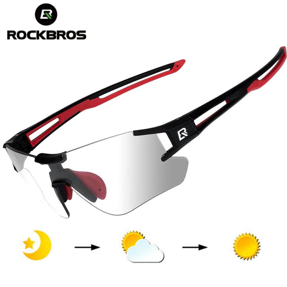 ROCKBROS Photochromic Cycling Glasses Bike Bicycle Glasses Sports Men's Sunglasses MTB Road Cycling Eyewear Protection Goggles