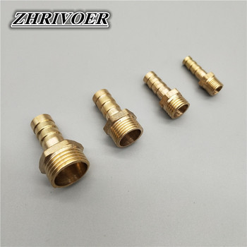 Hose Barb Tail 6/8/10/12/14/16/19/25MM Brass Pipe Fitting 1/8 1/4 3/8 1/2 1 BSP Male Connector Joint Copper Coupler Adapter image