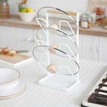 Многофункциональный Кухня поставки стойка 3 яруса кружевных сковородок(стеллаж для хранения настенное крепление для крышек кастрюль разделочная доска Организатор