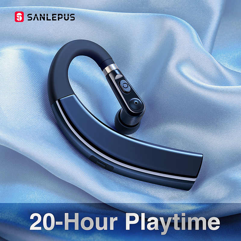 Sanlepus M11 Bluetooth Earphone Wireless Headphone Handsfree Earbud Headset dengan HD Mikrofon untuk Ponsel iPhone Xiaomi Samsung