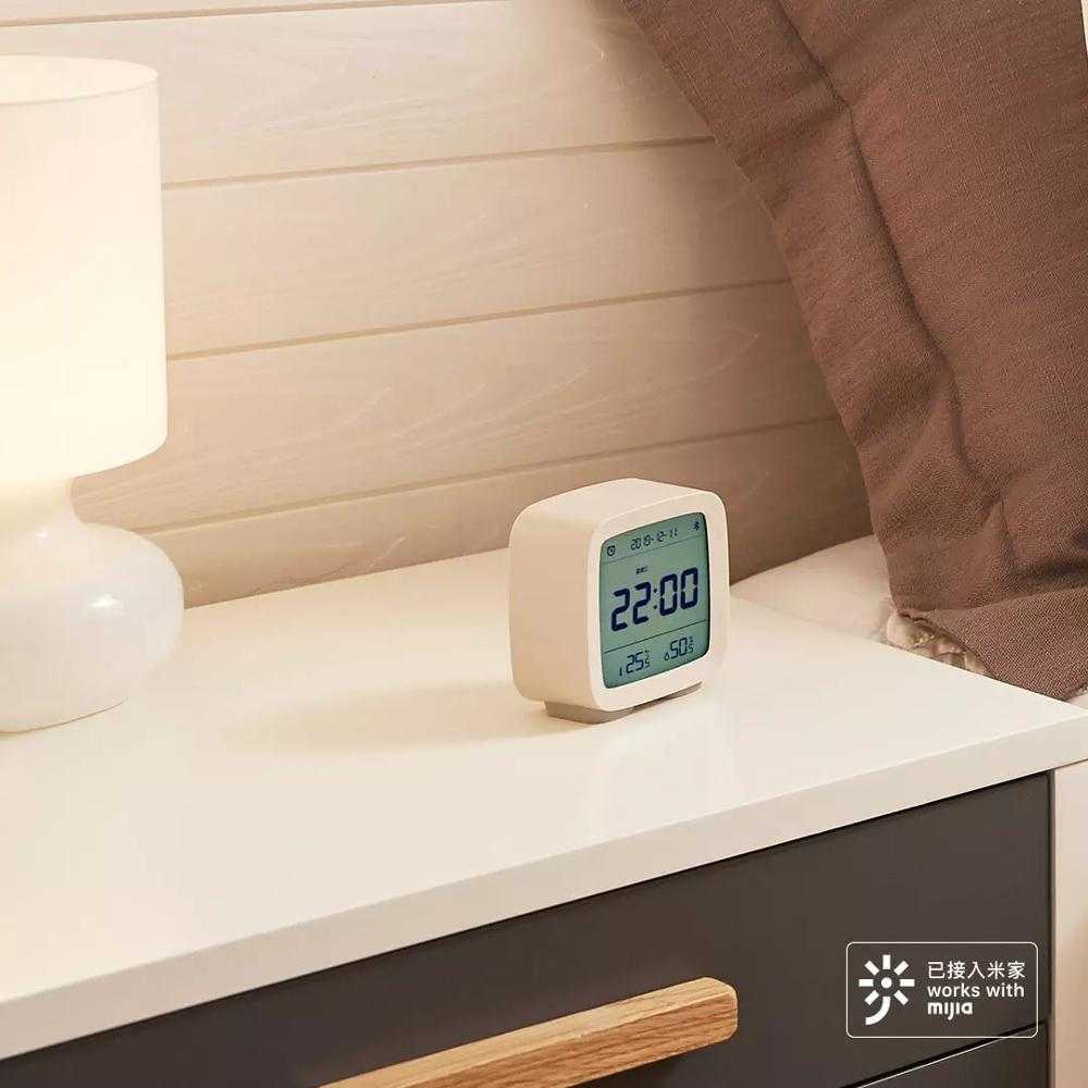 Image 3 - 在庫 Xiaomi 清平 Bluetooth 温度湿度センサー Mijia 夜の光 Lcd アラーム時計 Mihome アプリ制御温度計    グループ上の 家電製品 からの スマートリモコン の中