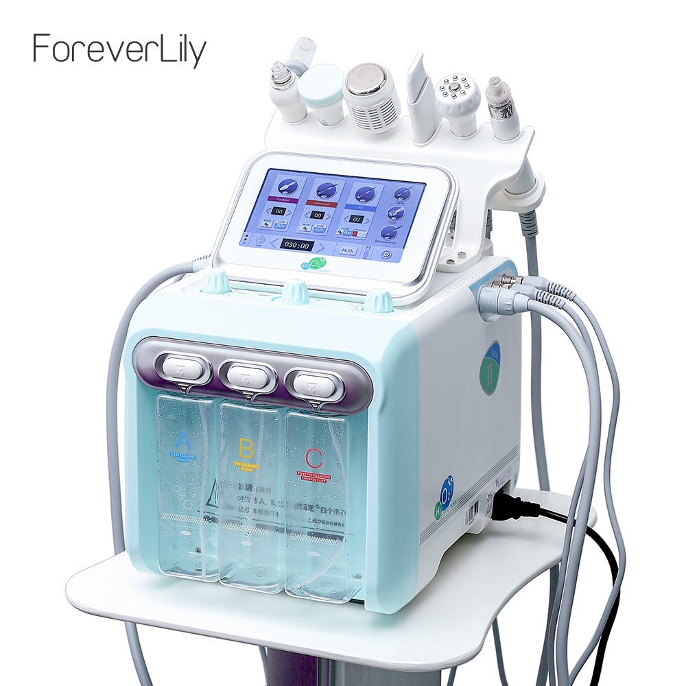 Water Oxygen Jet Skin Diamond Dermabrasion Machine Cleaning Hydro Dermabrasion Hydra Facial Machine 6 In 1 Water Peeling Device