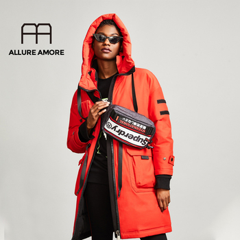 Allure Amore Hooded Ladies Coat Long Coats Parka jacket mid-long women winter thick jacket down jacket women winter