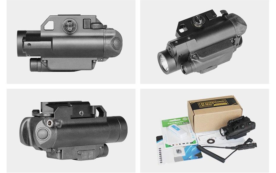 Picatinny arma laser com led tático luz