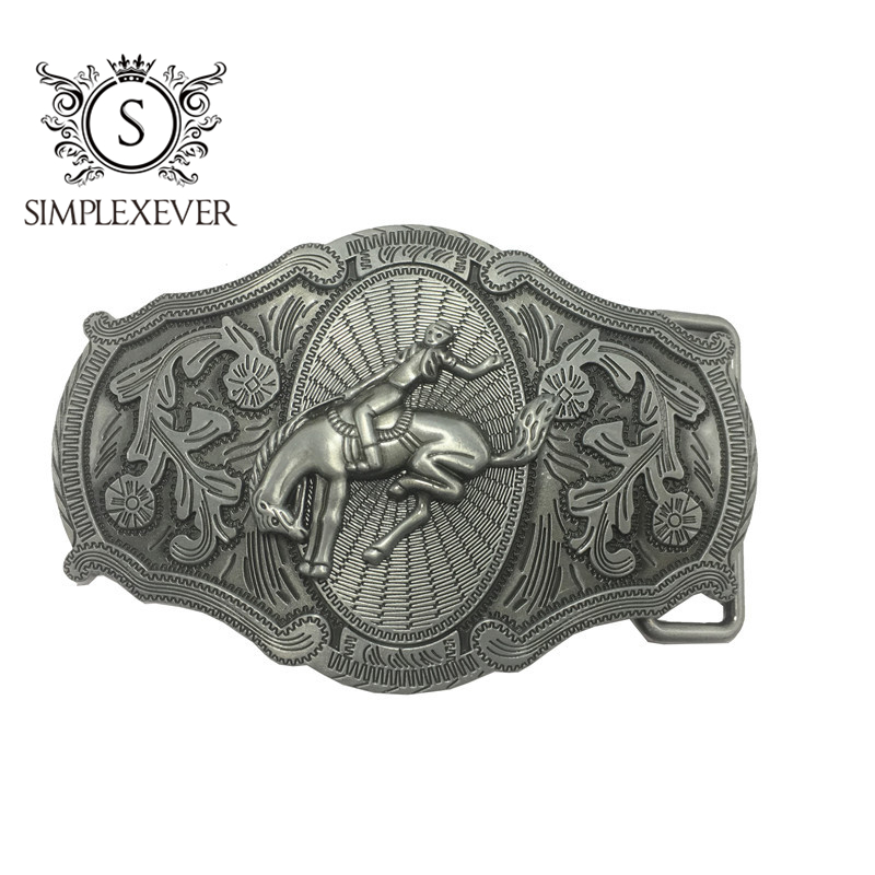 Cowboy Men's Belt Buckles Silver Belt Buckle Head Suit For 3.8-4cm Width Belt Jeans Accessories Buckles