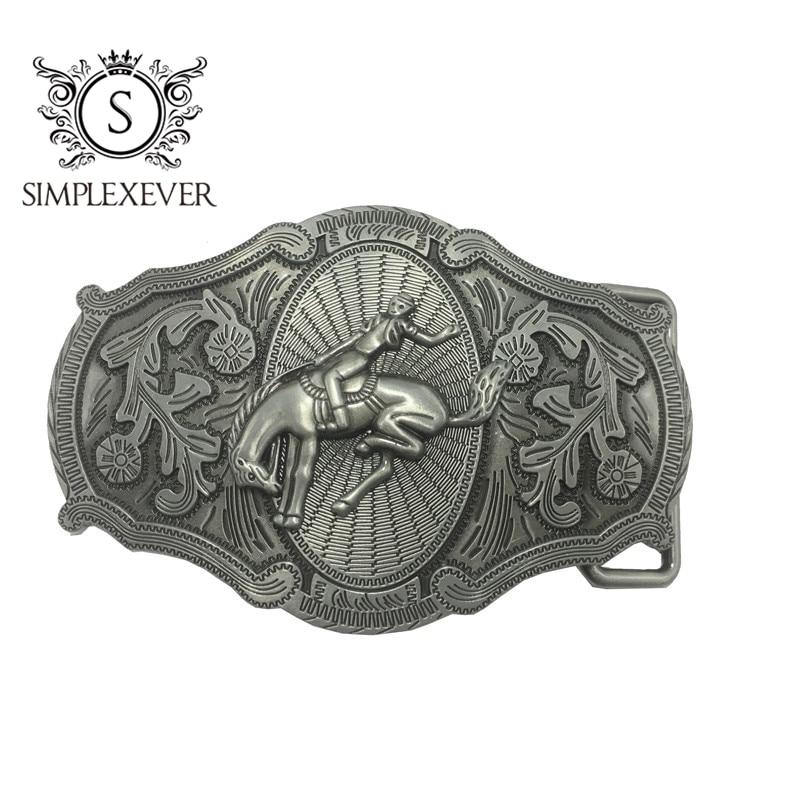 Cowboy Men's Belt Buckles Silver Belt Buckle Head Suit For 3.8-4cm Width Belt Jeans Accessories Buckles