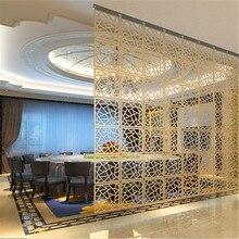 Домашний декор, 6 шт., 29x29 см, подвесные экраны для гостиной, части панелей, перегородки, стены, искусство, сделай сам, украшение из белого дерева, пластик