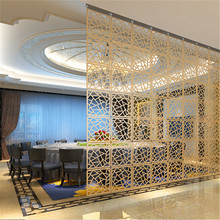 Home Decor 6pcs 29x29Cm Hanging Screens Living Room Parts Of Panels Partition Wall Art Diy Decoration White Wood Plastic