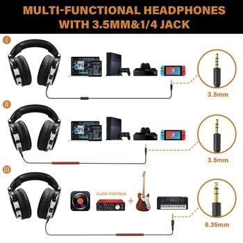 Oneodio Over Ear Headphones Hifi Studio DJ Headphone Wired Monitor Music Gaming Headset Earphone For Phone Computer PC With Mic 5