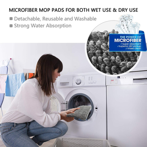 Image 5 - Easy Self Wringing Mopขี้เกียจFlip Flat Mop 360 Spin Wet Moppingแห้งพร้อมReusableสำหรับไม้ชั้นและห้องครัว