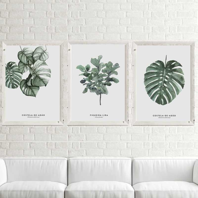 New Plant Green Leaf Monstera Deliciosa Art Decorative Painting Sofa Living Room Bedroom Wall Picture Canvas Painting Home Decor