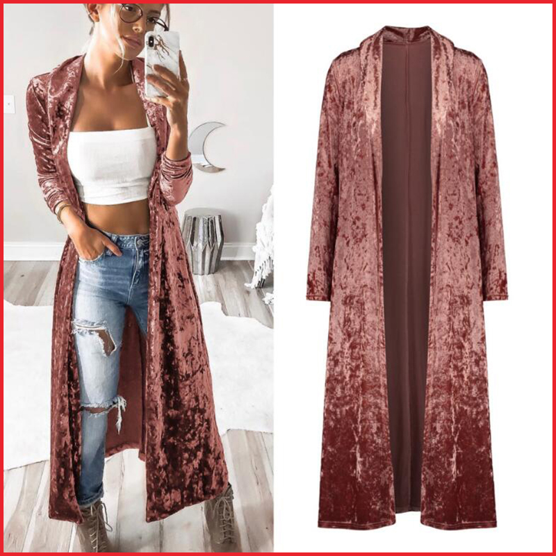Semfri Long Cardigan Jacket Winter Autumn Women Fashion Loose Open Stitch Coat 2019 Fashion Solid Streetwear Korean Style Jacket