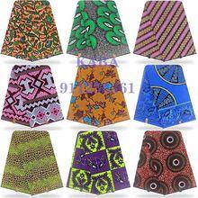 6Yard/lot véritable véritable cire douce dernière 100% coton Original africain imprimé tissu cire Tissus Pagne 2021 nigérian cire pour les femmes