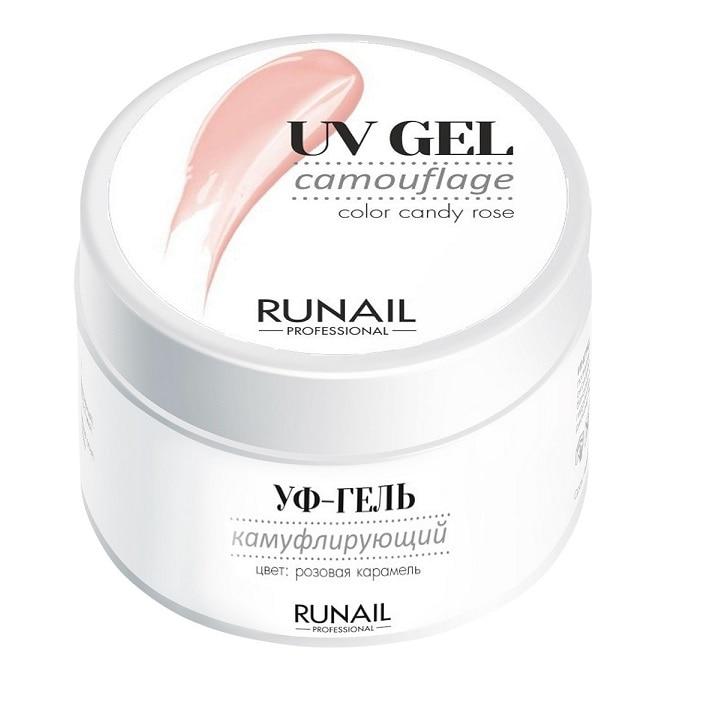 Camouflage UV Gel RuNail Professional, 3451, Pink Caramel, 15 G
