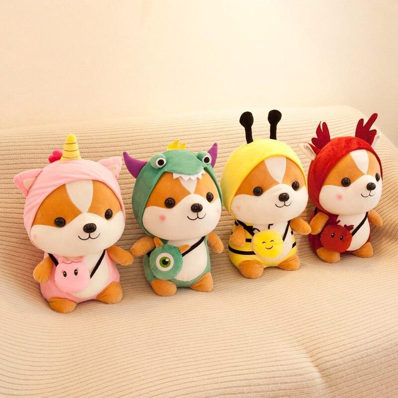 25-45cm Shiba Inu Hund Eichhörnchen Plüsch Spielzeug Gefüllte Weiche Tier Corgi Chai Kissen Weihnachten Geschenk Für Kinder valentinstag Weihnachten Geschenke