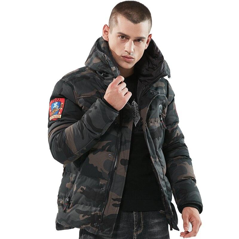 Men's Winter Thick Parka Down Jackets Cotton Chaquetas Hombre Camo Overcoat Men Casual Camouflage Jackets And Coats Wholesale