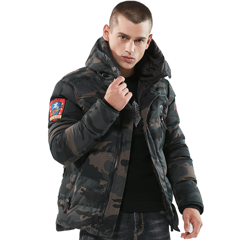 Men's Winter Thick Parka   Down   Jackets Cotton Chaquetas Hombre Camo Overcoat Men Casual Camouflage Jackets and   Coats   Wholesale