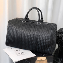 Luxury Designer Handbag 2021 New Fashion Woven Luggage Bag Large Tote Bags For Men Plaid Duffle Bag Casual Business Travel Bags