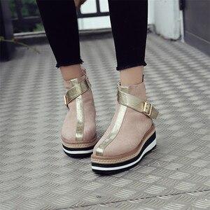 Image 5 - FEDONAS 2020 Thu Đông Dài Ấm Áp Giày Câu Lạc Bộ Đêm Giày Người Phụ Nữ Bò Bằng Sáng Chế Nữ Da Đầu Gối Giày Cổ Cao Dây Kéo Cao Cấp giày cao gót