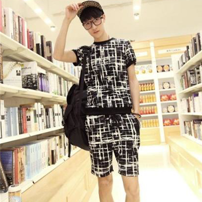 IKKB Kill Matt Clothes Non-mainstream Men's Suit Summer Short-sleeved Shorts Overalls Suit Male Large Size Summer Tide