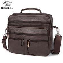 Fonmor genuíno couro masculino maletas moda negócios tote sacos multi camada ombro crossbody saco bolsas masculino bolsa de viagem