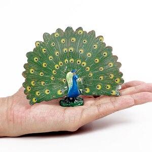 Моделирование Модели птиц индейки Фламинго попугай Сова морской Орел Страус модели Птиц ПВХ экшн-Фигурки игрушки для детей
