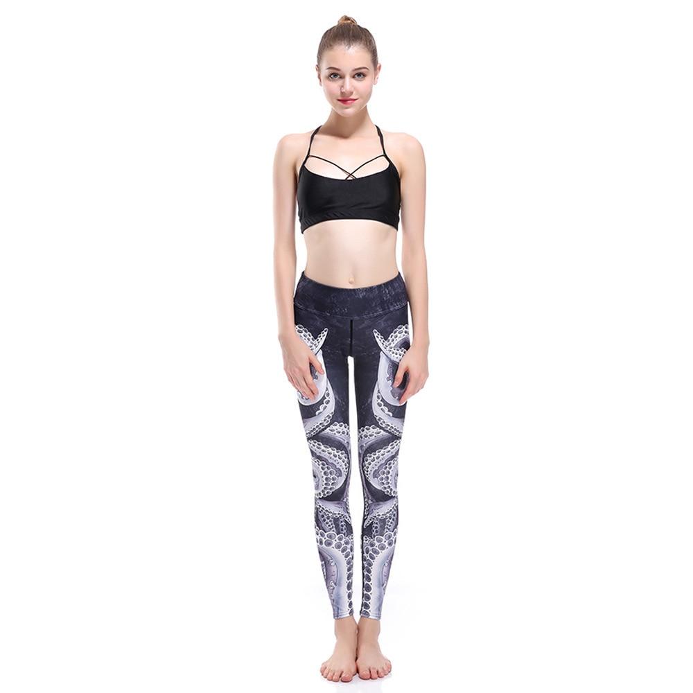 Серый и черный тонкий хип-лифтинг упражнения дышащие супер-эластичные быстросохнущие женские девять точек леди брюки леггинсы