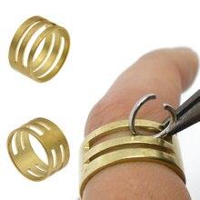 1/2 pçs latão saltar anel abridor de fechar ferramenta dedo diy jóias fazendo encontrar ferramenta