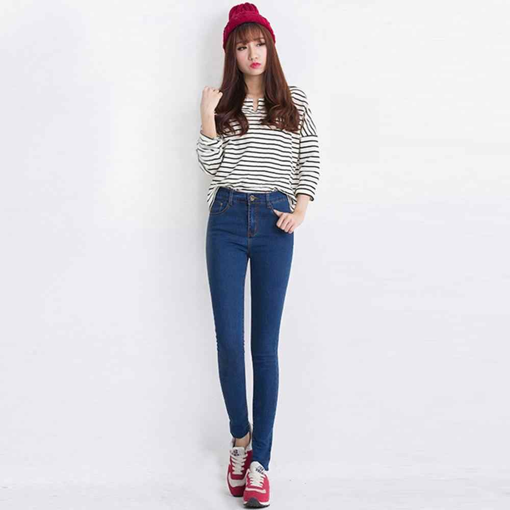 Women Jeans High Waist Skinny jeans Spring Summer Denim Pants Korean style  slim stretch small jeans ripped jeans for women#A6