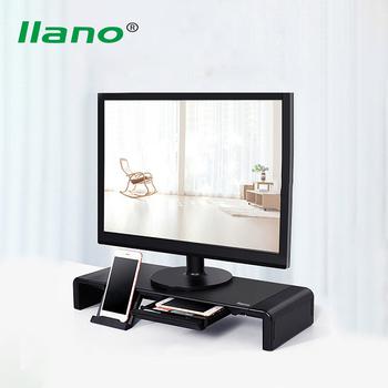 Półka podnosząca wyświetlacz LLANO wspornik monitora LCD stojak do przechowywania podkładka pod klawiaturę ekranu podstawa klawiatury pulpitu uchwyt do laptopa tanie i dobre opinie CN (pochodzenie) 13 -24 LJN-ZJ023 Display desktop heightening shelf ABS plastic + H steel plate + non-slip silicone 52*20*8cm(unfolded) 42*20*8cm(folded)