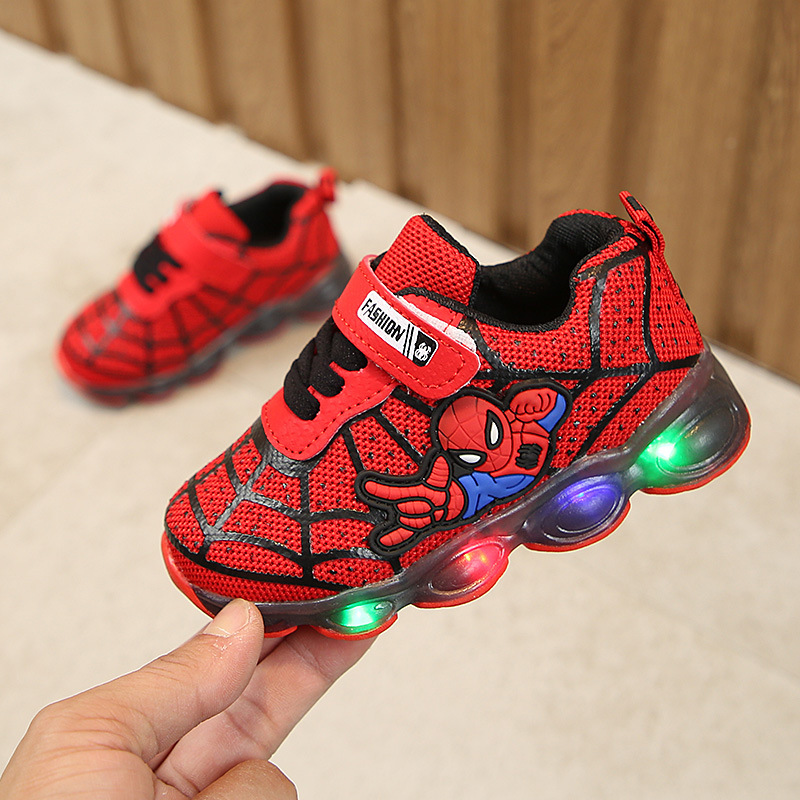 Boys Sneaker Girls Spiderman Kids Led Shoes With Lights Sneaker 2019 Spring Autumn Shoes Children Toddler Baby Girl Shoes