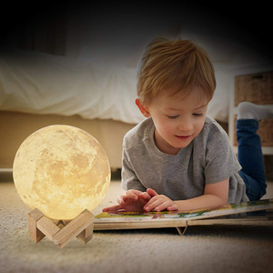 Image 4 - ZK20 LED Night Light 3D Print Moon Lamp Rechargeable Color Change 3D Light Touch Moon Lamp Childrens Lights Night Lamp for Home