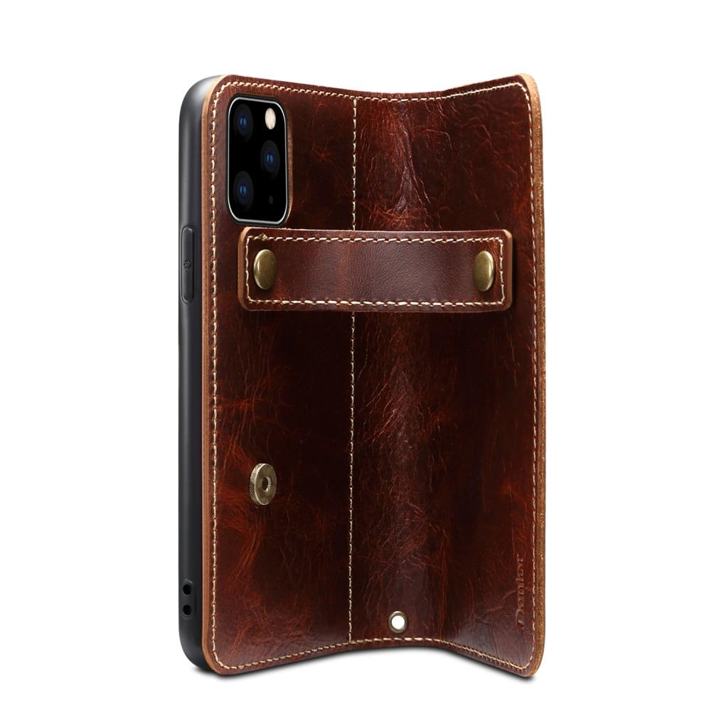 Premium Leather Magnet Button Flip Strap Case for iPhone 11/11 Pro/11 Pro Max 58