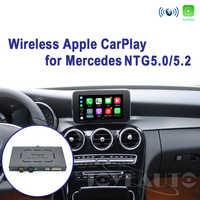 Joyeauto Drahtlose Apple Carplay Auto spielen Android Auto Spiegel Retrofit für Mercedes A B C E G CLA GLA GLC S Klasse 15-19 NTG5 W205