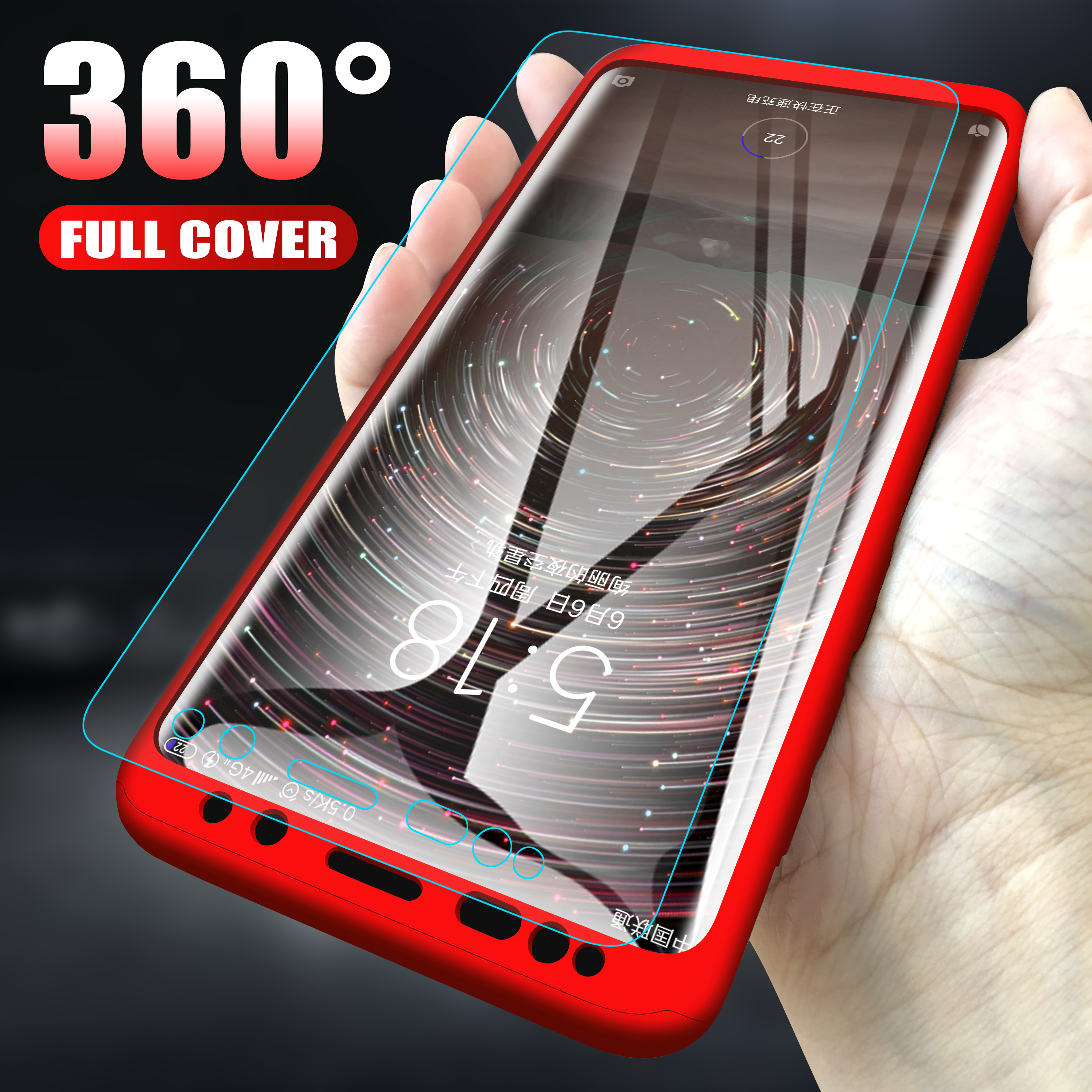 360 Full-Cover Phone-Case Protective Xiaomi Redmi 4x5-Plus No 5A For 7A 6A 4A With Glass