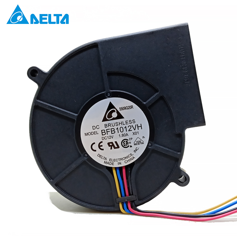 for delta Original BFB1012VH <font><b>9733</b></font> turbo centrifugal <font><b>fan</b></font> <font><b>blower</b></font> <font><b>12V</b></font> 1.80A wind capacity 97*97*33mm image