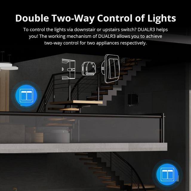 SONOFF DUALR3 Dual Relay Module Wifi DIY MINI Switch Two Way Power Metering  2 Gang/ Way Switch Timing Smart Home eWeLink APP 4