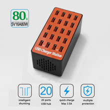 80W Smart USB Charger 20 Ports USB Hub Quicky Charge 3.0 Station Power Adapter Universal for iPhone iPad Samsung Huawei xiaomi каталог samsung smart hub
