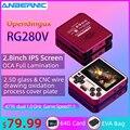 Новая консоль для ретро-игр RG280V ANBERNIC, система открытого доступа, корпус с ЧПУ, PS1, игровой плеер, портативная карманная консоль RG280, портативн...