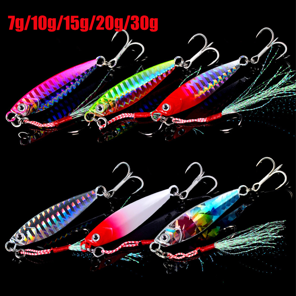7/10/15/20/30g Made in Japan jig Shone Hard Bait Fishing Feather Metal jigger Lure Accessories Colorful Crankbait Jigging Minnow