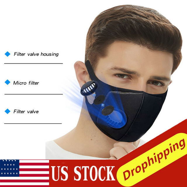 IN STOCK 10PCS PM2.5 Breathable Anti-dust Haze Flu Face Mouth Mask Filter Respirator Thin Dropshipping