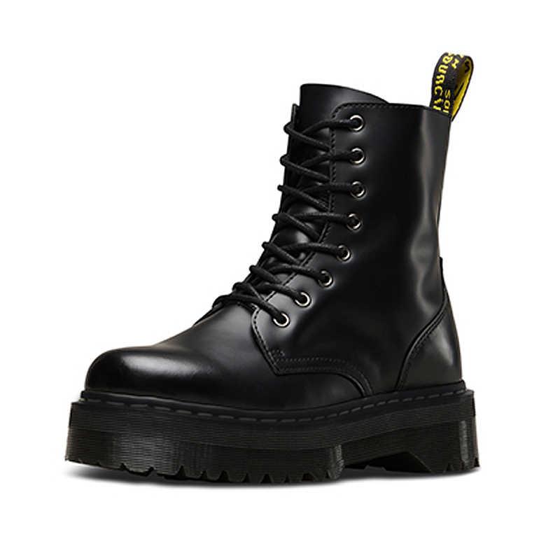 Doc נשים מגפי פלטפורמת מגפי מרטין מגפי גבירותיי עור נשים קרסול מגפי חורף נעלי נשים נעלי Botas Mujer