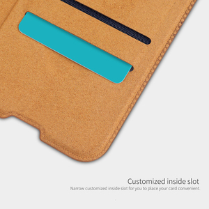 Image 4 - For Samsung Galaxy A51 5G phone case Nillkin Qin Series Flip Leather Case For Samsung Galaxy A51 Luxury Wallet Cover