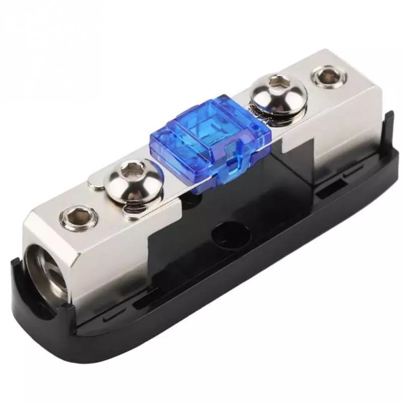 30-150A Stereo Audio Single Way AGU Fuse Holder Power Distribution Block Fusebox Car Accessories Zinc Alloy