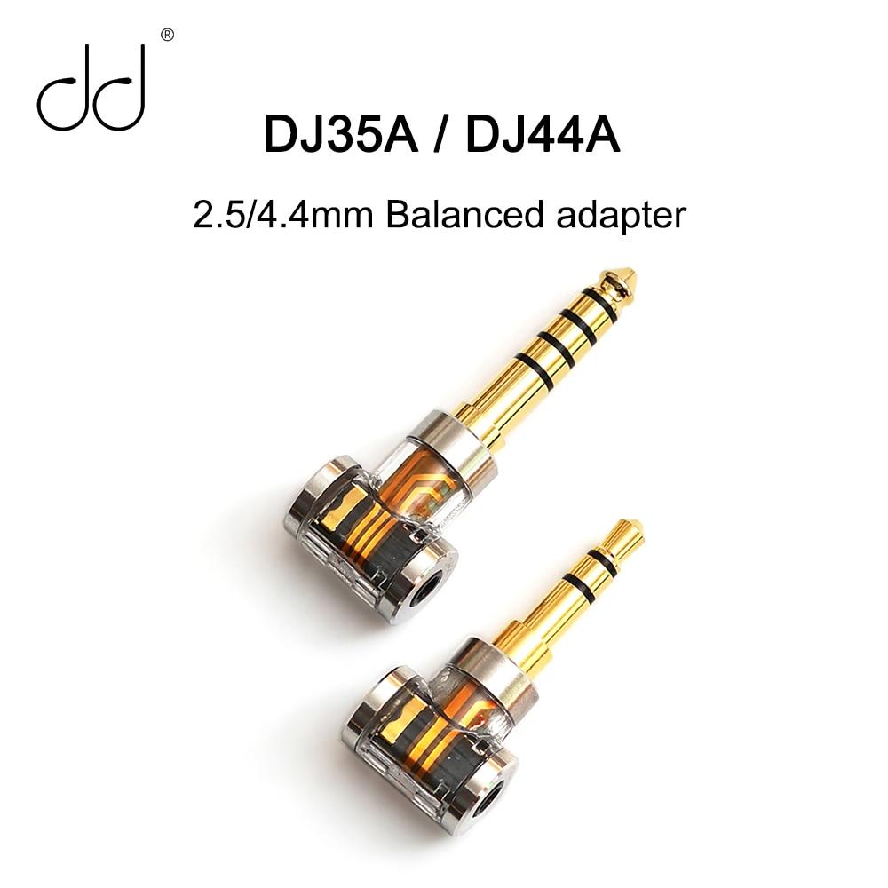Сбалансированный адаптер DD DJ35A DJ44A 2,5/4,4 мм, подходит для балансирующего кабеля наушников 2,5 мм (от 2,5 до 3,5/2,5 до 4,4)