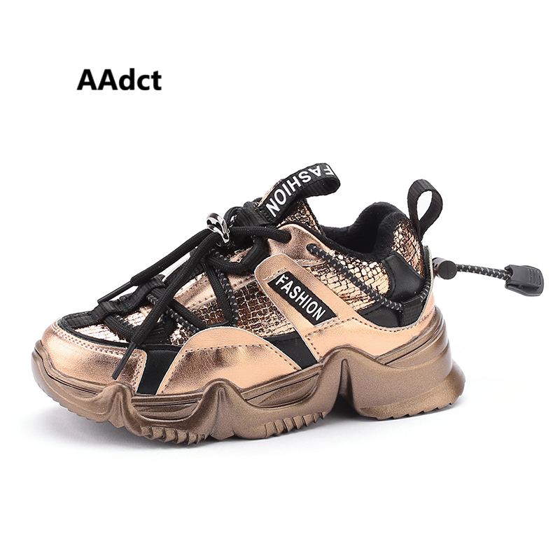 AAdct Girls Shoes Brand Running Sports Kids Shoes For Boys Winter Cotton Warm Little Children Casual Shoes Sneakers High-quality