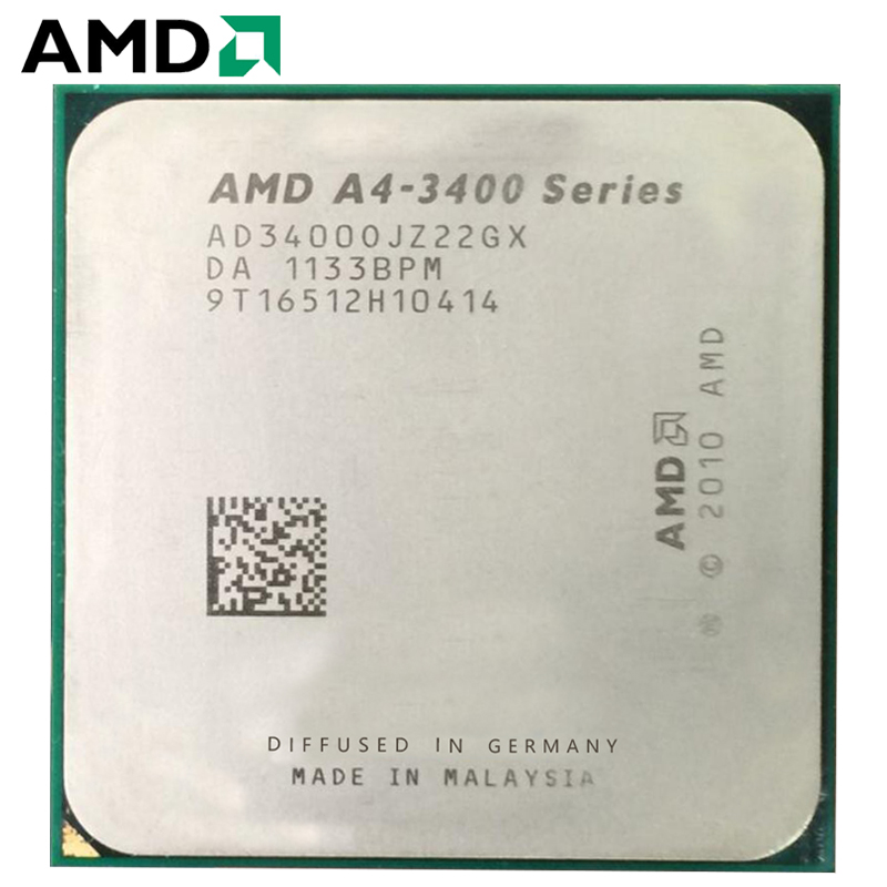 AMD A4-Series A4-3400 A4 3400 Dual-Core cpu 100% working properly Desktop Processor 2.7GHz 65W FM1 image