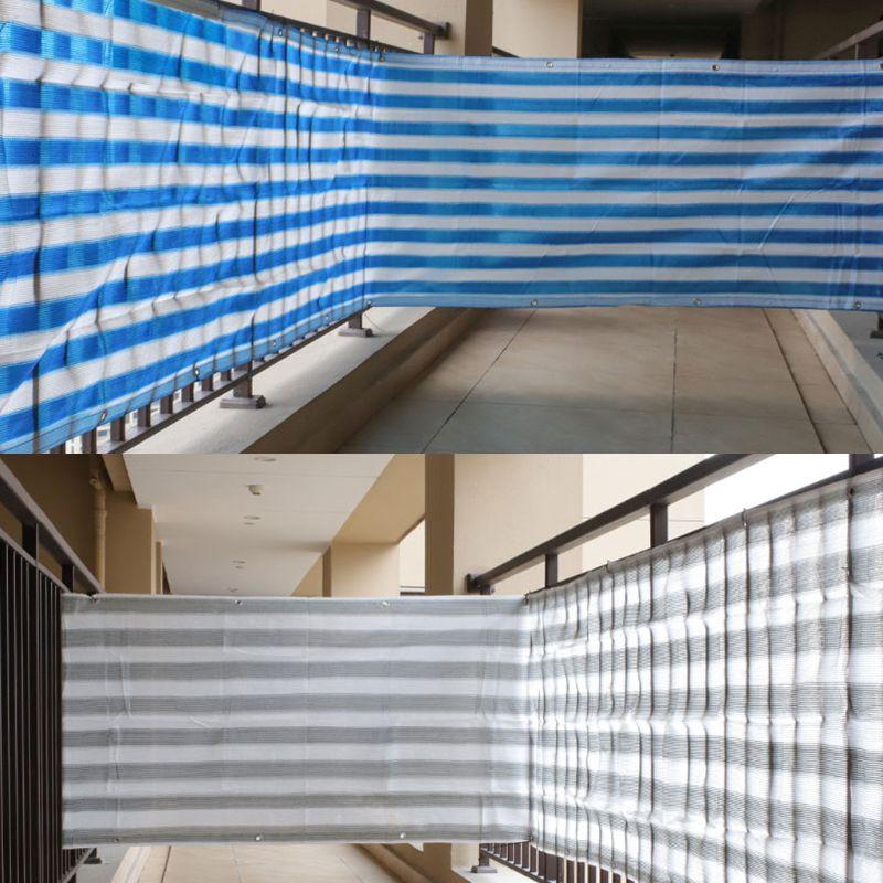 5m Heat Resistant Balcony Privacy Screen Fence Shade Cover Anti-UV Wind Protect M7DA