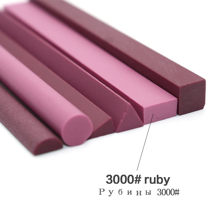 6 Pieces 3000 Grit Ruby Knife Sharpener Abrasives Polishing Whetstone Sharpening Grinding Stones Professional Grindstone