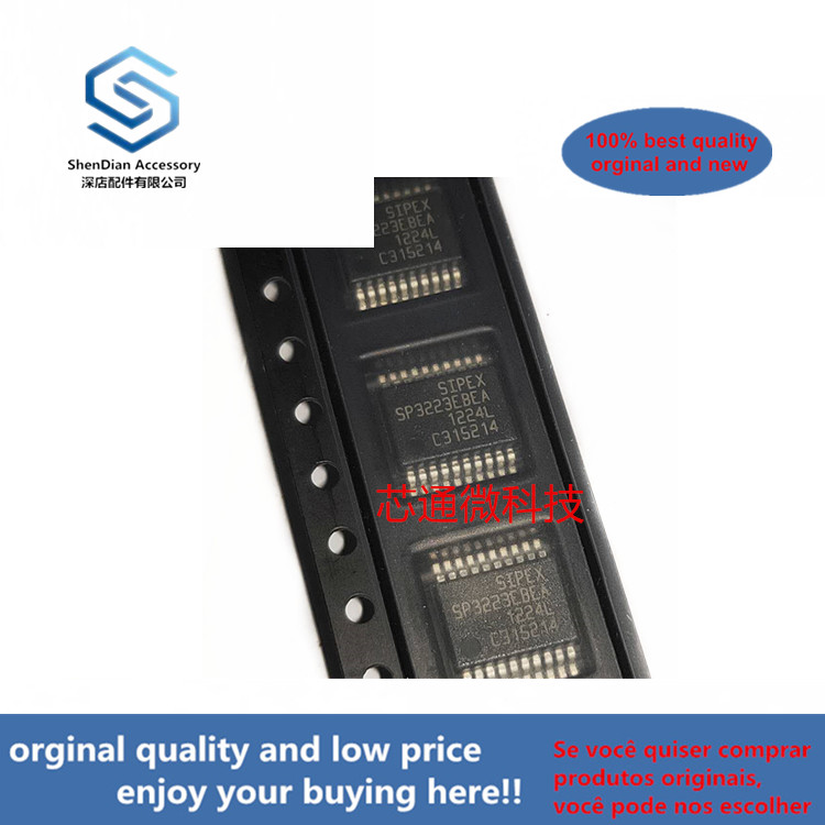 10pcs 100% Orginal New Best Qualtiy SP3223EBEA-L-/TR SP3223EBEA SSOP-20( Can Work Perfect)